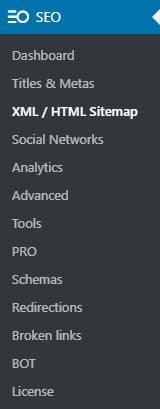 Seopress Xml Html Sitemap Instellingen