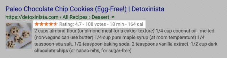 Voorbeeld Rich Snippet Recept