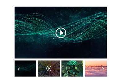 divi video slider module